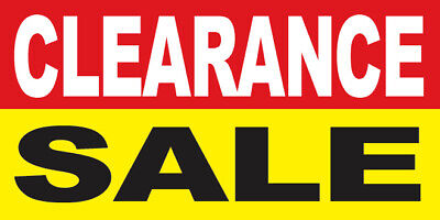 Clearance Sale Vinyl Banner Sign 2 3 4 6 8 10 12 20 Ft Ryb