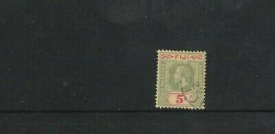 STAMPS   FIJI  1912-   5/-   GREEN &RED  MULTI C A WMK     FINE USED