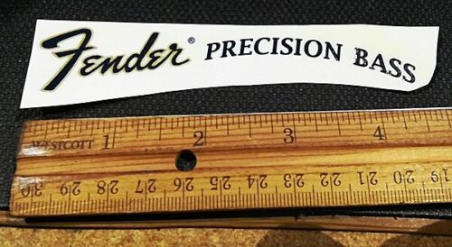 Waterslide Guitar Decal - Precision Bass