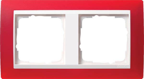 GIRA 0212398 Rahmen 2fach Opak rot Event für reinweiß