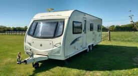 Avondale argente 2009 touring caravan reduced to £7,225 end bedroom fixed bed
