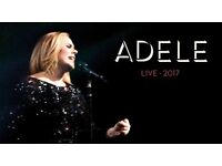 Adele Live 2017 - 4 x Tickets Saturday 1 July