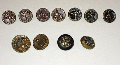 Кнопки antique (11) Metal FLORAL BUTTONS