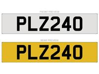 PLZ 240 - Cherished Number plate for sale