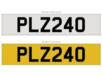 PLZ240 NUMBER PLATE FOR SALE