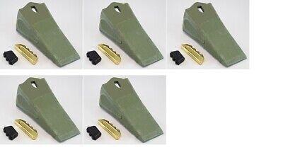 Set Of 5 Premium Quality 35s Esco Style Bucket Teeth Wpins And Locks