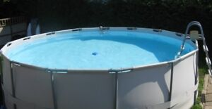 """15 ft above ground pool 48"""" deep complete"""