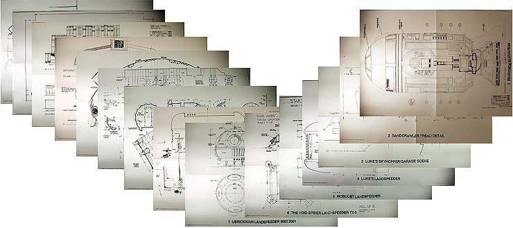 Warehouse Find 1978 Star Wars Original Blueprint Set-15 Sheets in Pouch-UNUSED