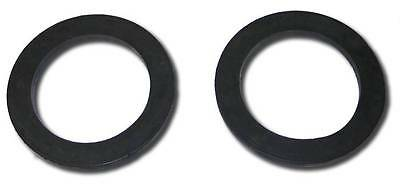 (Heavy Duty Thick Black Rubber Front Upper Coil Spring Isolators)