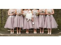 Beautiful dusky lavender bridesmaid dress size 10