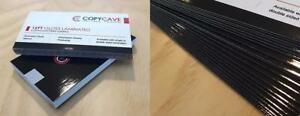 GLOSS LAMINATED BUSINESS CARDS - PRINTING - Extra durable, lowest prices, flat rate design service available