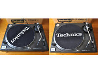 Pair of Technics SL1210 Mk2 including Ortofon Pro S & Stanton 680.V3 cartridges