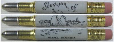 RESTORED Vintage Bullet Pencil - Miami, Florida (Sailboats) EF-1380