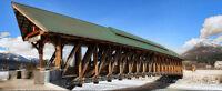"Walking Bridge in the Rockies Giclée Framed Print 16"" x 8"""