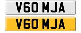 V60 MJA - private registration plate