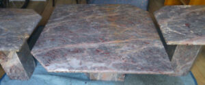 Marble Coffee Table/End Table Set