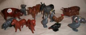 Lot of Vintage Cast Iron Animals
