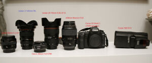 Canon EOS 5D II Mark 2 plus lenses and flash (multiple items)