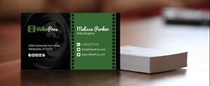 500 High gloss full colour business cards Cambridge Kitchener Area image 2