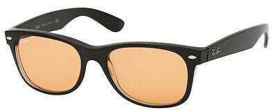 Ray-Ban Damen Herren Sonnenbrille RB2132 6398/3L 52mm New Wayfarer schwarz F8 H