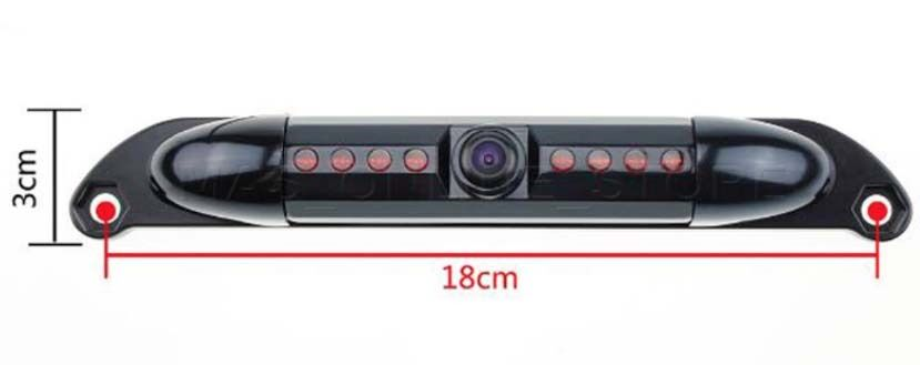 COLOR REAR VIEW CAMERA W// ACTIVE GUIDELINES FOR CLARION NX706 NX-706