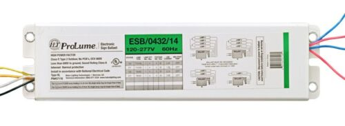 Halco 57116 ESB043214 Sign Ballast 1-4 Lamps 120-277V T12 4-32 FT T8 4-24 18127