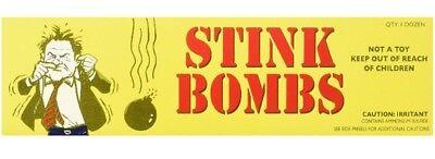 Novelty Box - 36 Stink Bombs-3 Glass Vials Per Box Stinky and Smelly Novelty