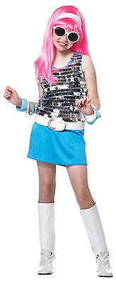 80's Go Go Girl Disco Rock Star Child Costume - Rock Star Costume Girl