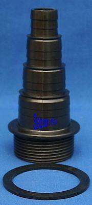 "Stufenschlauchtülle  11/2""  AG  20,25,32,40 mm  Stufen + 2 Dichtringe Koi Filter"