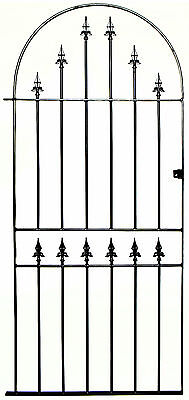 WROUGHT IRON METAL GARDEN SIDE GATE Kingsbury Bow to fit 915mm opening