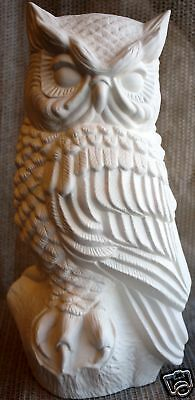 Ceramic Bisque Vinatage Large Owl Scioto Mold 46 U-Paint Ready To Paint