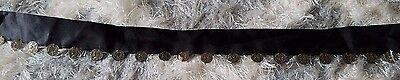 Black sash charm coin pirate gypsy belt women's junior's or costume