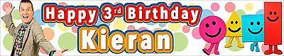 2 x  MISTER MAKER PERSONALISED BIRTHDAY BANNERS