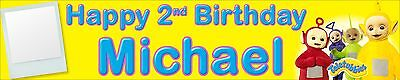 Birthday Banners With Photo Personalized (2 X PERSONALISED BIRTHDAY BANNERS TELETUBBIES WITH)