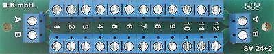 Stromverteiler SV 24+2, Verteiler, 2 Eingänge 24+2 Ausgänge, anreihbar, 10A, IEK