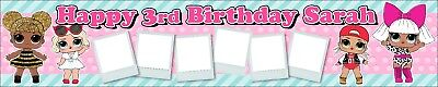 Birthday Banners With Photo Personalized (2 x Personalised Lol Birthday Banners with)