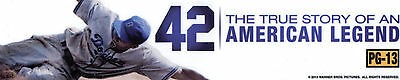 42 American Legend Jackie Robinson Baseball Movie Theater MYLAR Home Man Cave