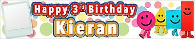 2 x MISTER MAKER PERSONALISED PHOTO BIRTHDAY BANNER