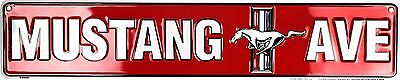 """Ford Mustang Ave 24"""" x 5"""" Embossed Metal Street Sign"""
