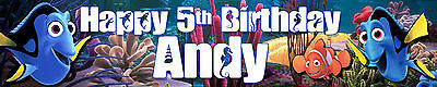 FINDING NEMO PERSONALISED BIRTHDAY BANNERS PACK OF TWO  ()