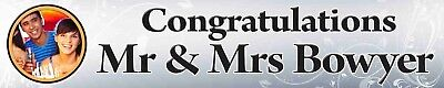 Personalised Anniversary Banners (2 x PERSONALISED WEDDING, ANNIVERSARY, ENGAGEMENT CONGRATULATIONS PHOTO)