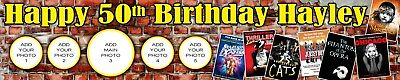 2 x WEST END THEATRE PERSONALISED PHOTO BIRTHDAY BANNER