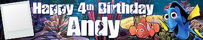 2 x FINDING NEMO PERSONALISED PHOTO BIRTHDAY BANNER ()
