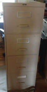 Filing cabinet 4 drawers legal 8 x 14""