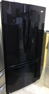 "Kenmore Black 36"" french door Fridge bottom freezer PRICE $699"