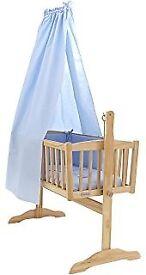 Clair de Lune Crib/Moses basket drapes & stand