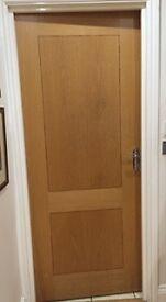 10 American Oak Internal Fire doors complete with all door furniture, hinges and locks