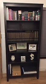 Brown black solid wooden bookcase