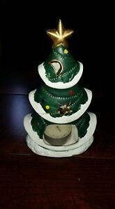 2 Christmas Candle holders