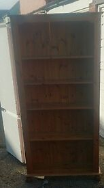 Solid pine bookcase, can deliver